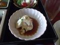 朝食・お豆腐です
