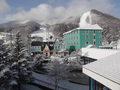 X-JAM高井富士スキー場の前のホテルです