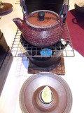 夕食・マツタケ土瓶蒸しです