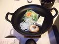 夕食・すき焼きなべ