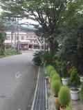 ホテル前の坂
