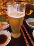 夕食・グラスビール