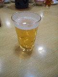 夕食・グラスビールサービス