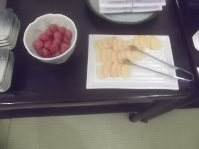 朝食ーハーフバイキング・漬物