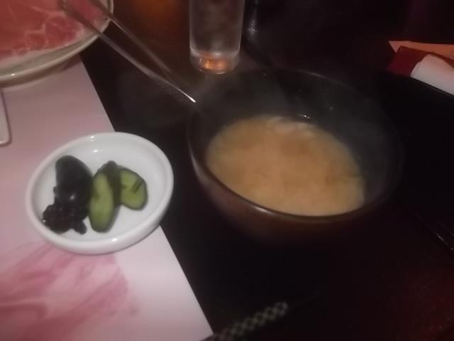 夕食・香の物