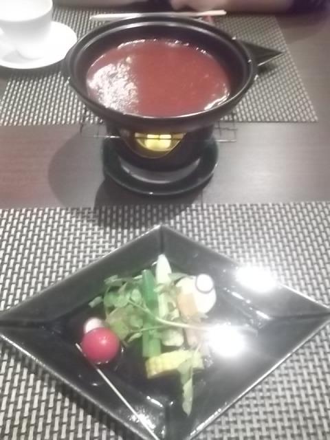 夕食・フォンデュ