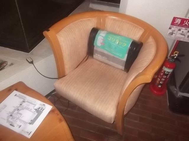 椅子にマッサージ器