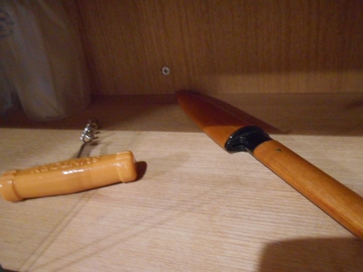 ナイフがあります。
