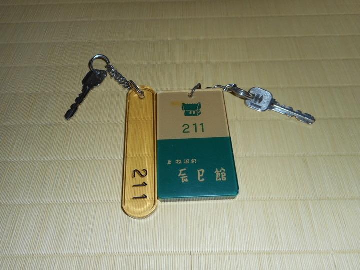 部屋の鍵は2個用意していたがきました