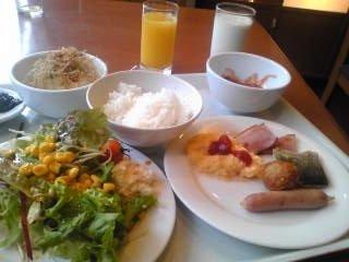 品数豊富な朝食