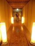 貸し切り風呂への渡り廊下