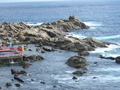 露天風呂から見下ろす「太平洋」