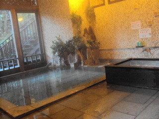 ワンちゃんのお風呂(温泉)