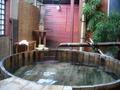 露天風呂で生ビール