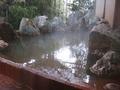 岩風呂の露天