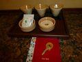 お茶セットの陶器が和風でおしゃれ