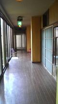 温泉への廊下