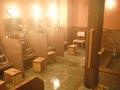 女性用大浴場の洗い場