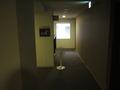 廊下に扇風機