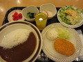 夕食(カレー定食)