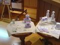 化粧品の展示