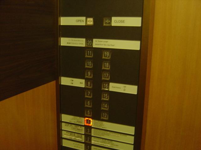 エレベーターボタン