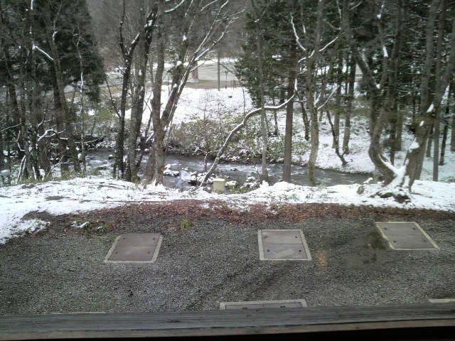 お部屋から外を見ても雪