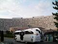 リゾートラインからのバスとホテル