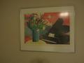 部屋に飾られている絵