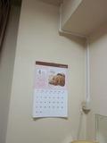 部屋にカレンダー