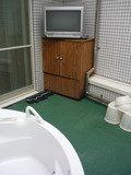 アウトドアジャグジーのテレビ