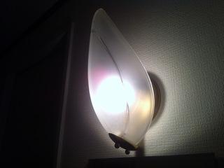 部屋入口照明