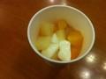 フルーツポンチと杏仁豆腐