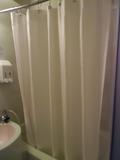 共同バスルームのシャワーカーテン