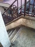屋外の移動階段