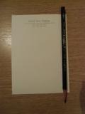 メモ用紙と鉛筆