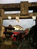 松島神社の鳥居が目印