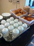 朝食はセルフサービス