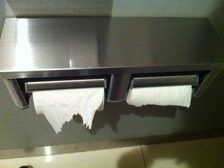 ロビー階のトイレのトイレットペーパー