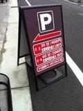 ホテルの駐車場案内板