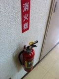 廊下の消火器