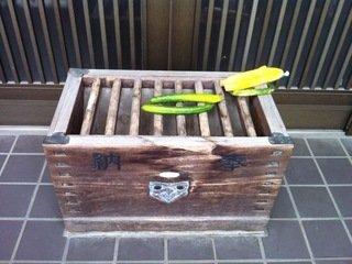 かっぱ寺のお賽銭箱