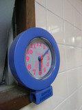 共同浴場の脱衣所の時計