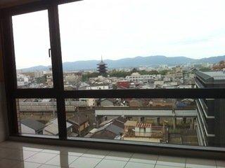 展望ロビーから世界遺産「東寺」が観えます