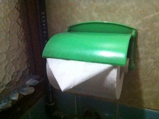 手拭用のトイレットペーパー