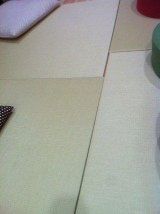 共用スペースの畳マット