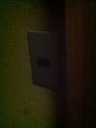客室フロア廊下の照明スイッチ
