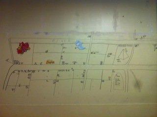 客室フロアの廊下の壁