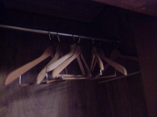 部屋のハンガー
