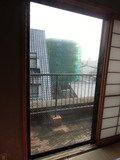ベランダへの窓扉